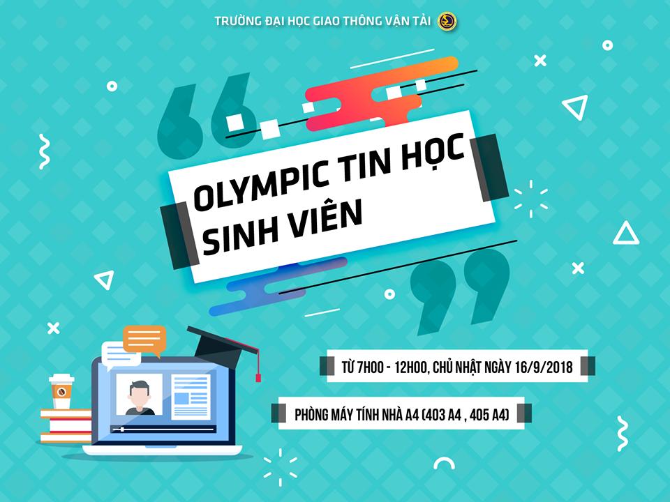 DANH SÁCH THÍ SINH DỰ THI OLYMPIC TIN HỌC SINH VIÊN TRƯỜNG ĐHGTVT NĂM HỌC 2018-2019