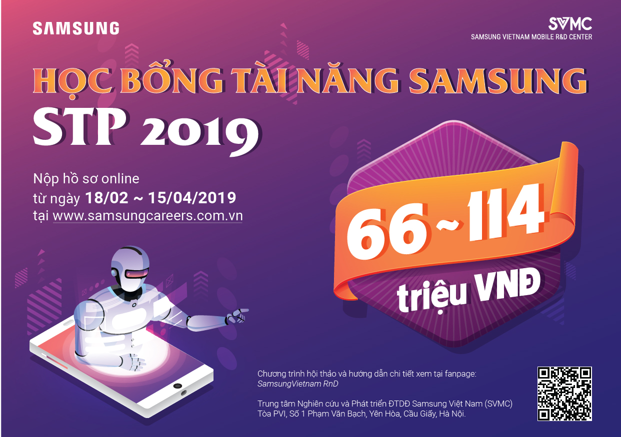 Học bổng Tài năng Samsung – STP 2019