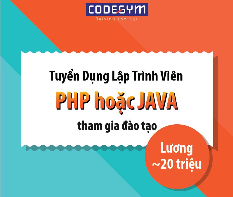 Codygem Tuyển dụng giảng viên PHP/ JAVA – Không yêu cầu kinh nghiệm đào tạo