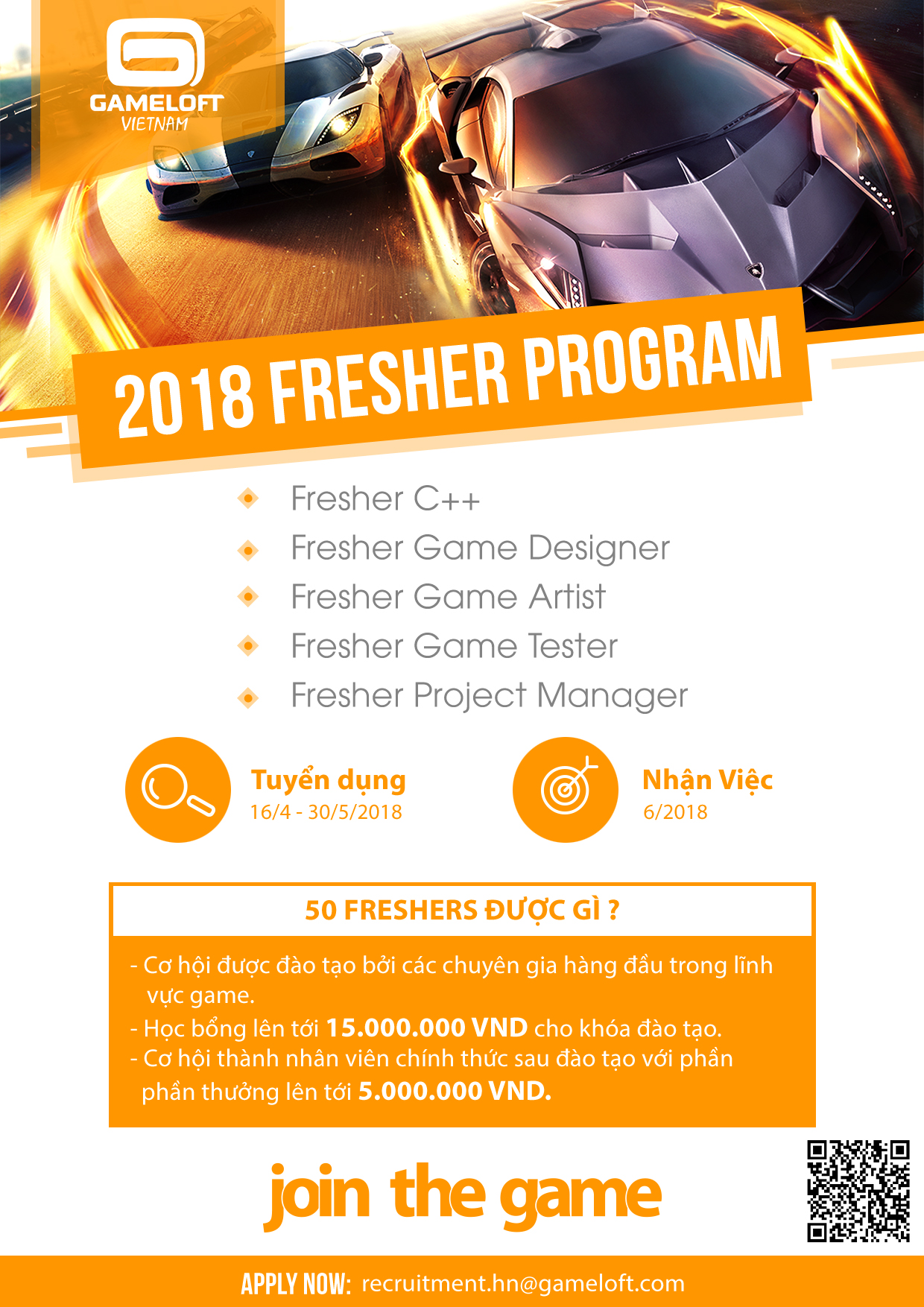 Fresher Program 2018_Join the Game