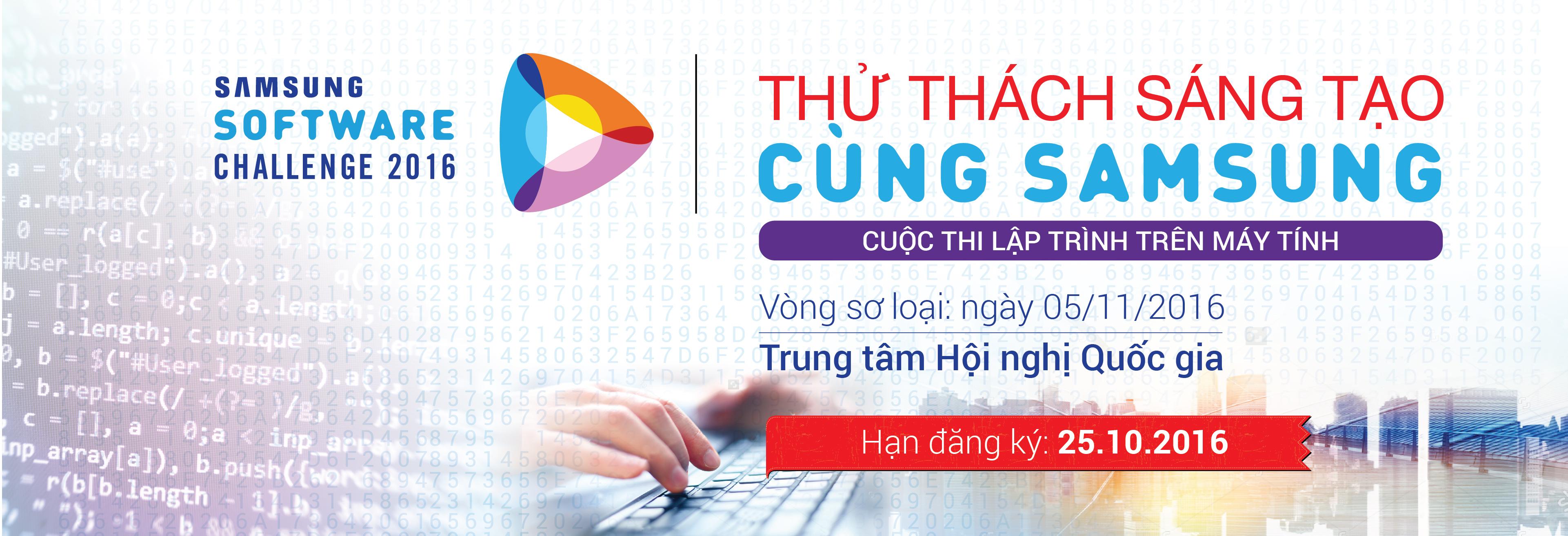 Thông báo cuộc thi Lập trình Samsung Software Challenge 2016