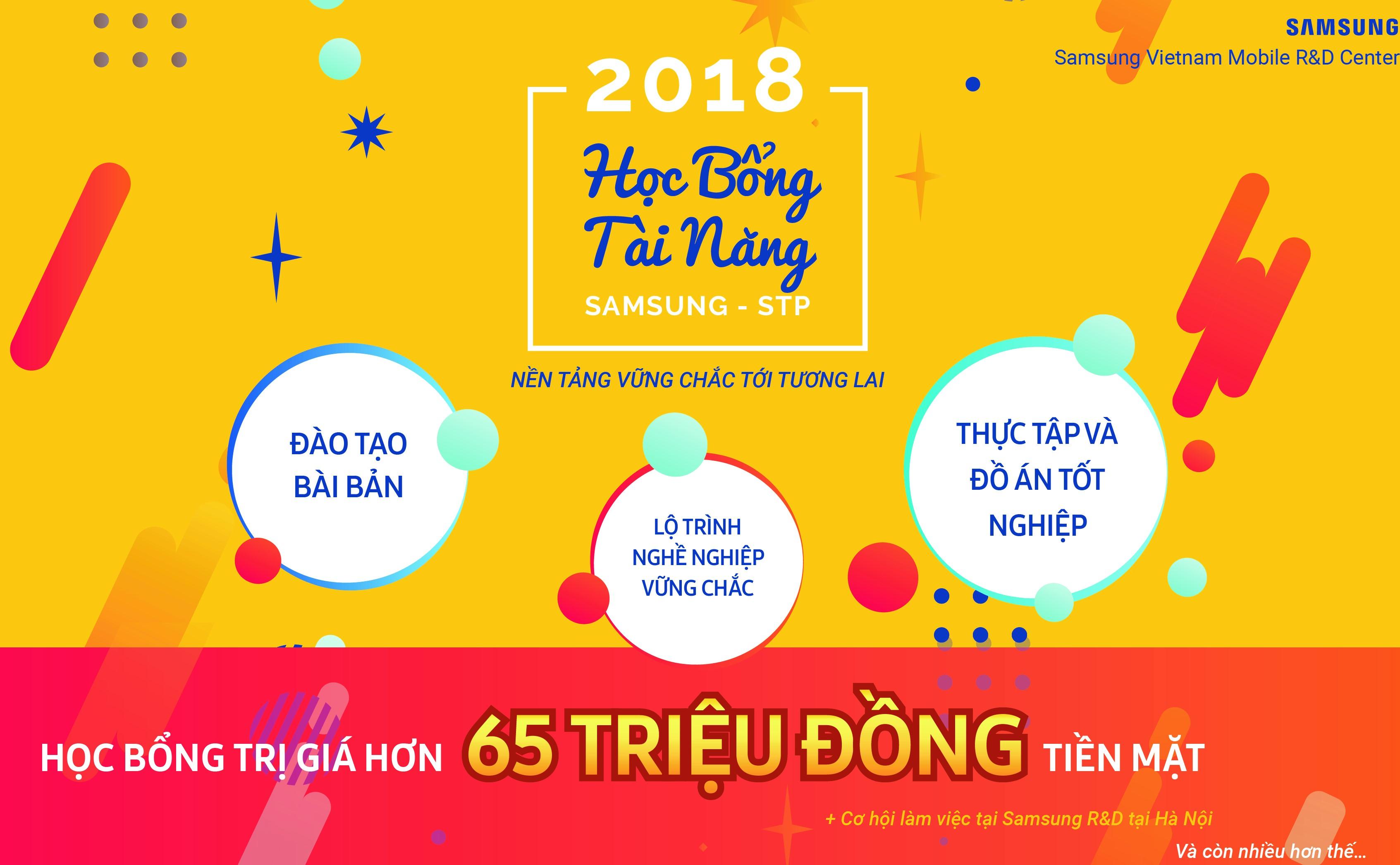 HỌC BỔNG TÀI NĂNG SAMSUNG - STP 2018